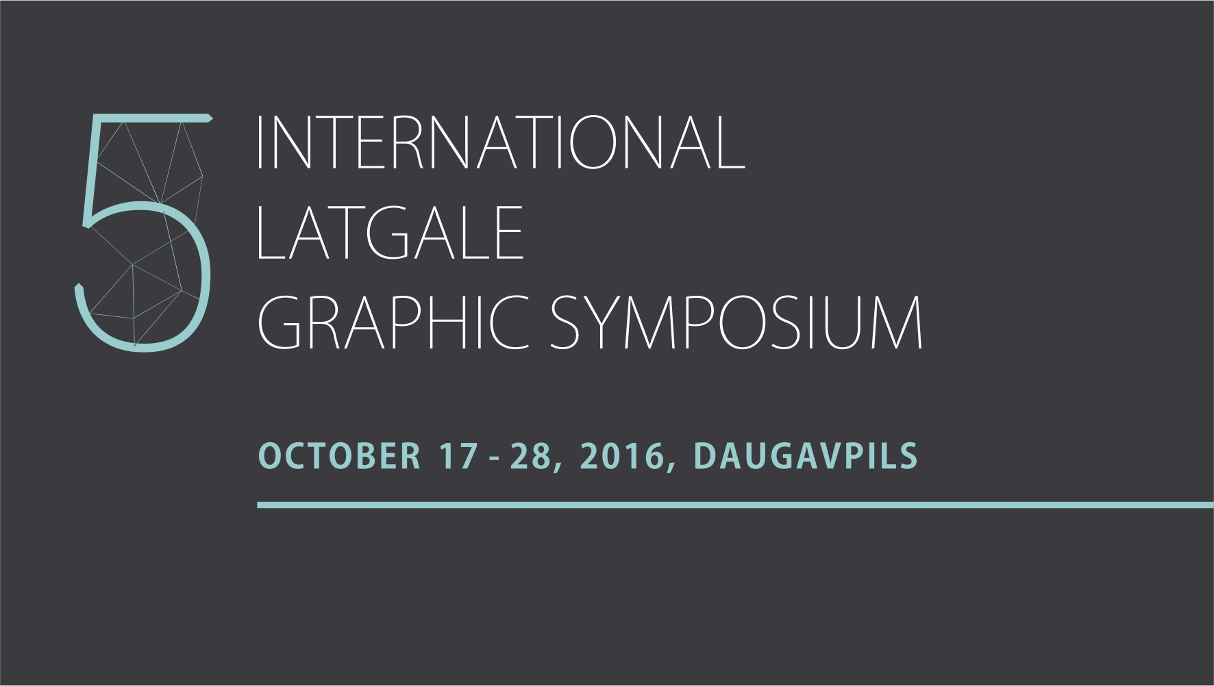Logo des 5th International Latgale Graphic Symposium