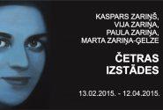 ČETRAS IZSTĀDES – Vija Zariņa, Kaspars Zariņš, Paula Zariņa un Marta Zariņa-Ģelze (1987-2014)