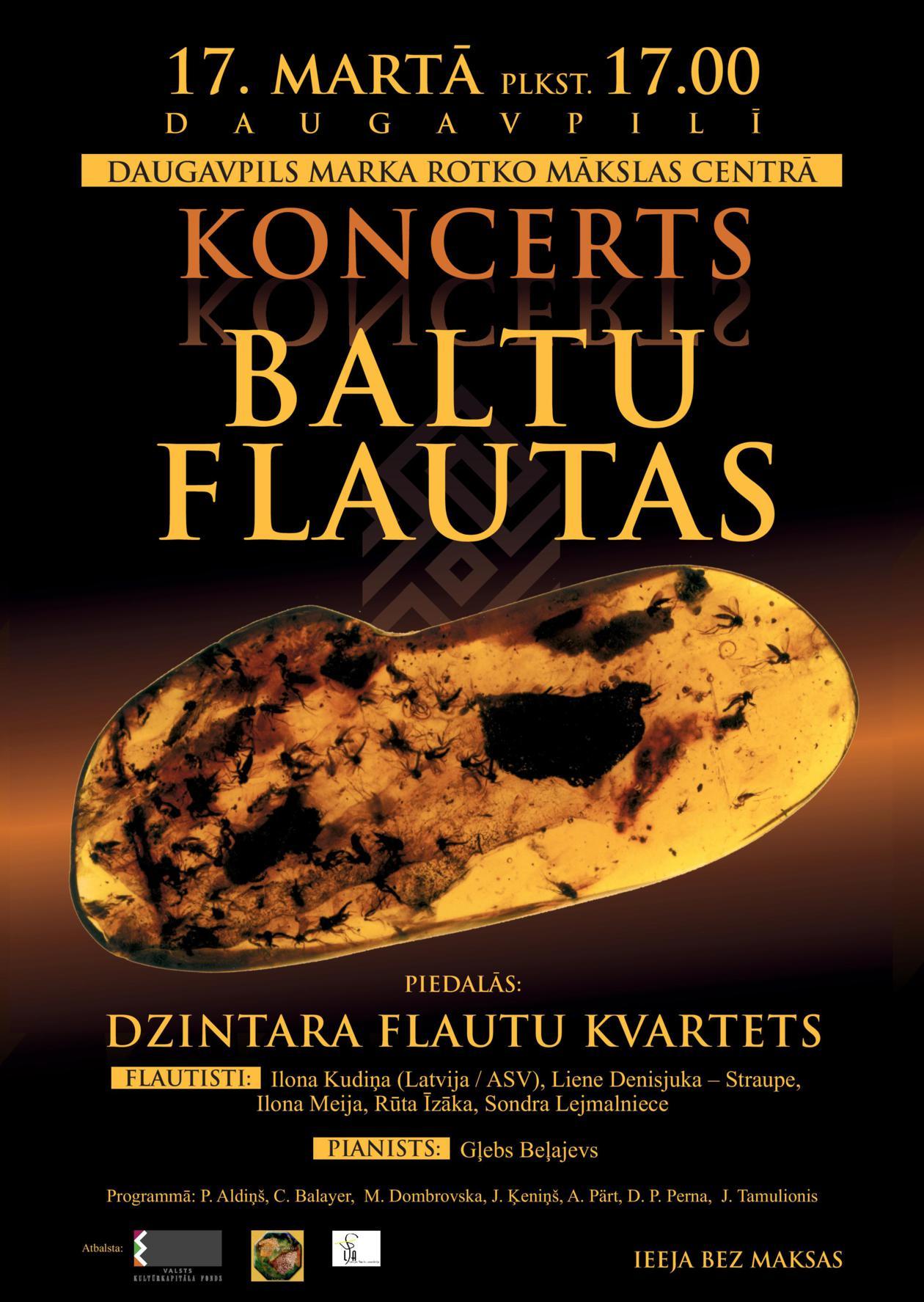 """Marka Rotko mākslas centrā notiks  Latvijas Flautistu asociācijas koncerts """"Baltu flautas"""""""
