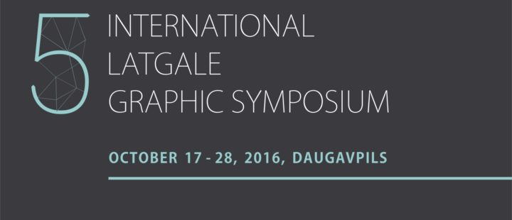 GRAPHIC ART SYMPOSIUM (OCTOBER 17-28, 2016)