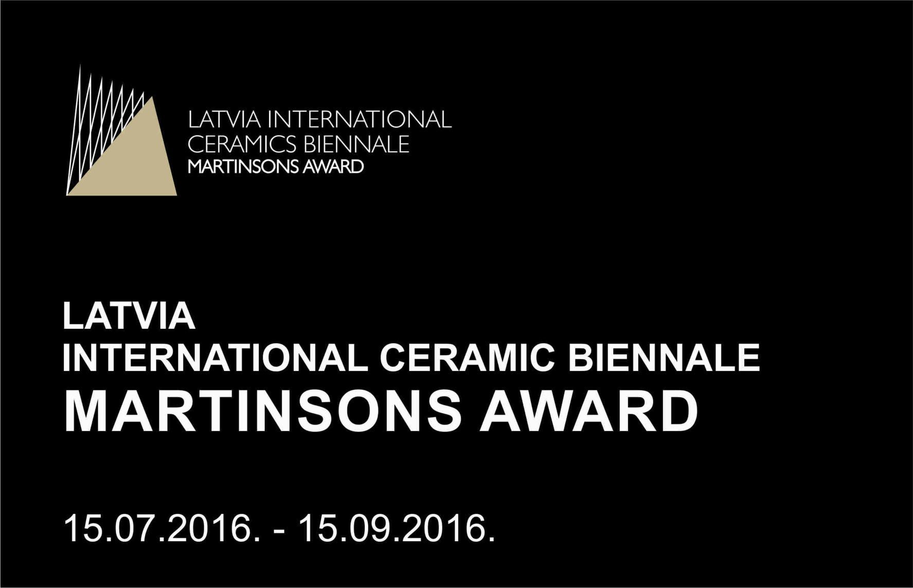 MARTINSONS AWARD Latvia International Ceramics Biennale