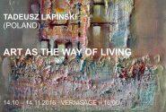 """TADEUSZ LAPINSKI """" ART AS THE WAY OF LIVING """""""