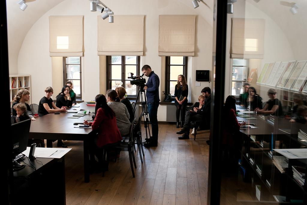 Дискуссионный форум – пресс-конференция «МУНК ВСТРЕЧАЕТСЯ С РОТКО В ДАУГАВПИЛСЕ»