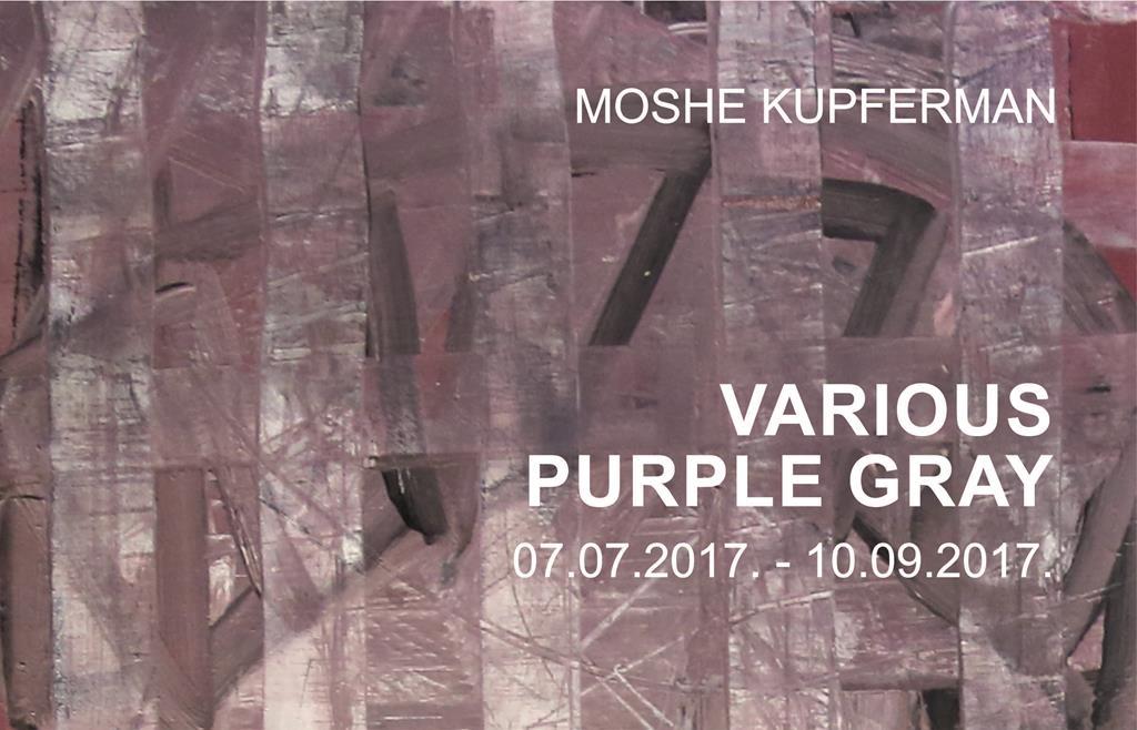 Moshe Kupferman VARIOUS PURPLE GRAY