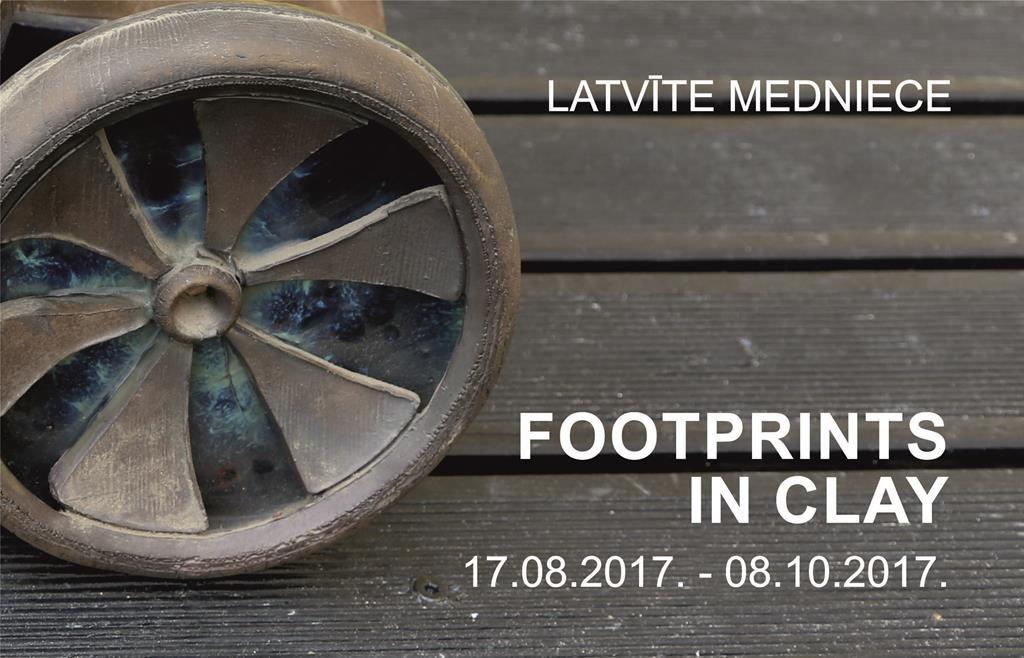 Latvīte Medniece  FOOTPRINTS IN CLAY title=