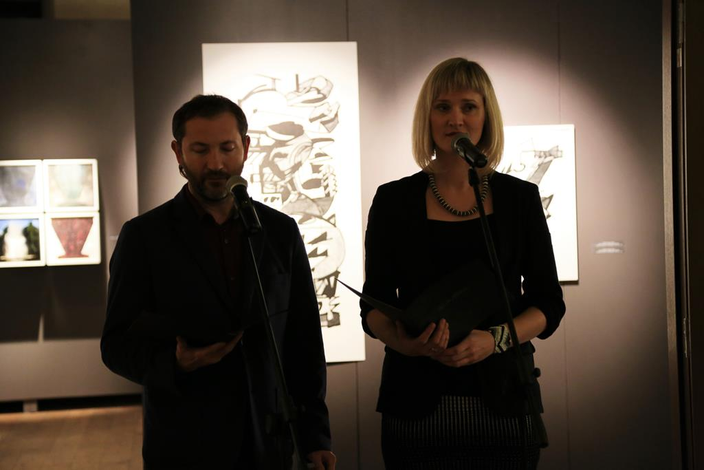 Открытие выставки работ участников 6-го международного симпозиума графики Латгалии