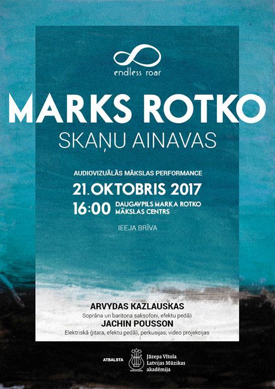 """Audiovizuālās mākslas performance """"Marks Rotko. Skaņu ainavas"""""""