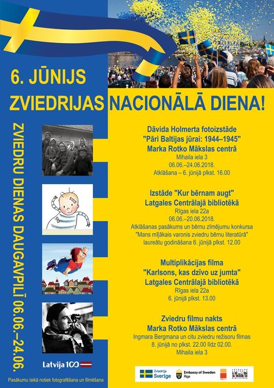 Rotko centrā Zviedru dienu ietvaros izstādes atklāšana un filmu demonstrācija