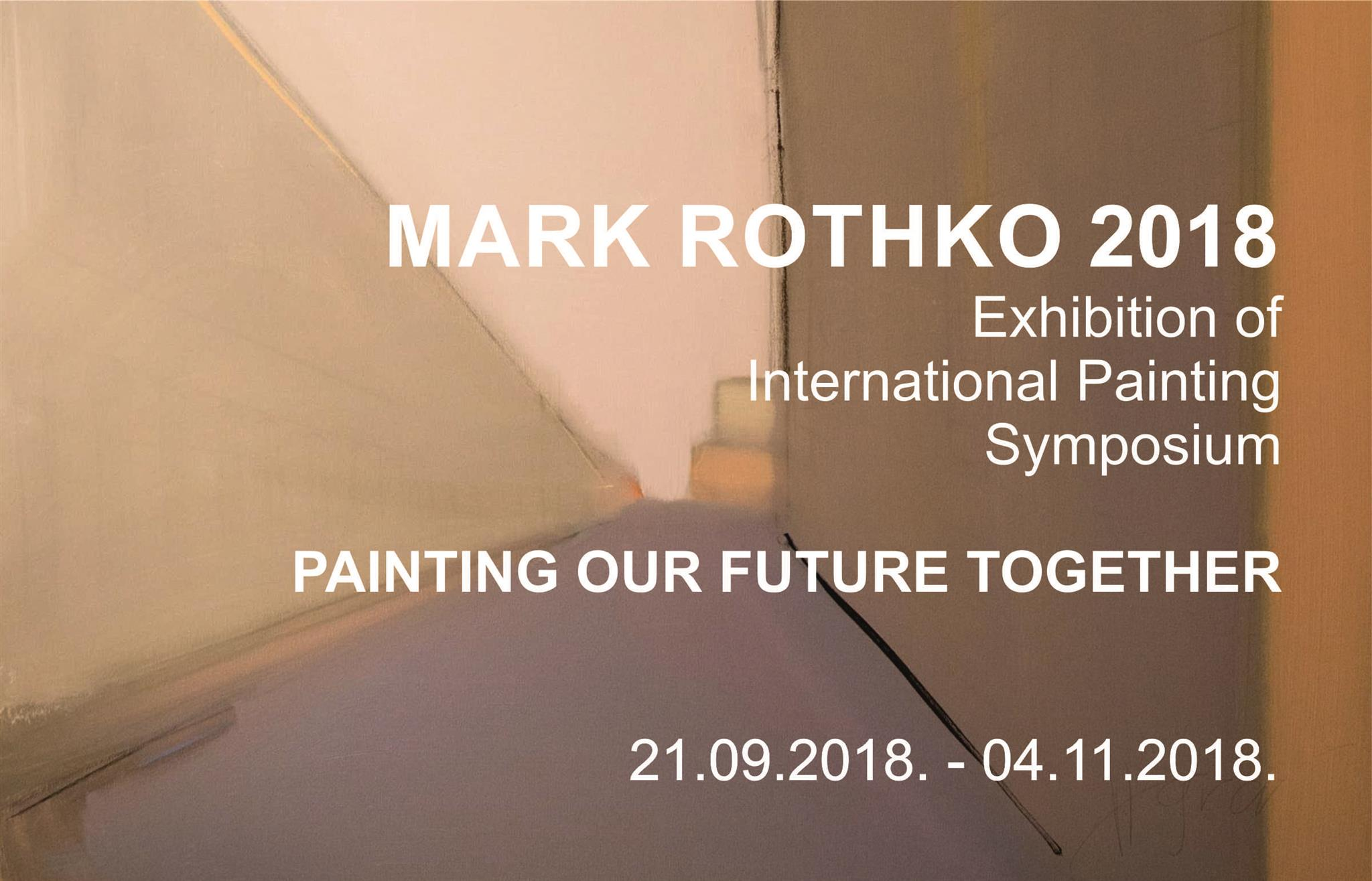 International Painting Symposium  Mark Rothko 2018