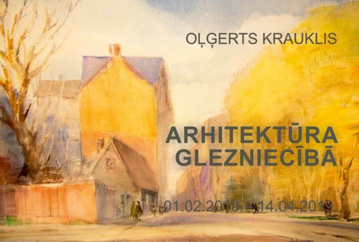 Oļģerts Krauklis. Arhitektūra glezniecībā