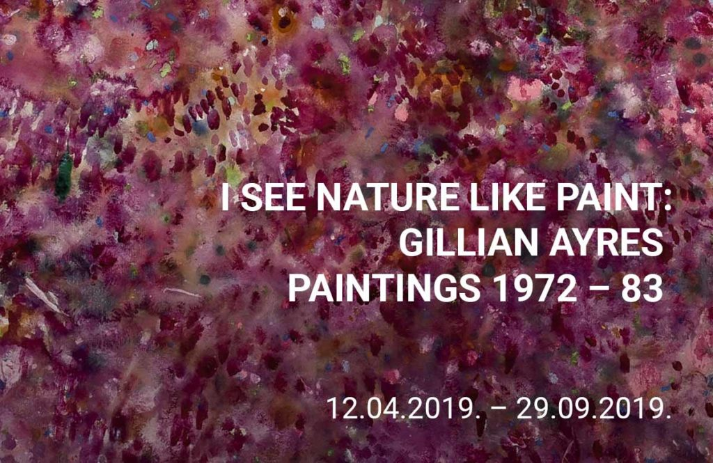 I See Nature Like Paint: Gillian Ayres paintings 1972-83 title=