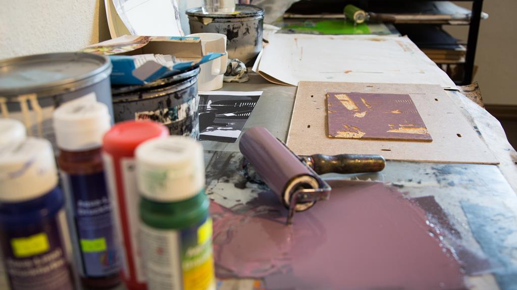 Rotko centrā bezmaksas radošā grafikas meistardarbnīca