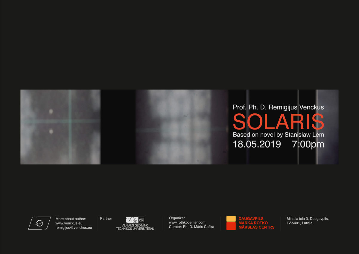 Popular Lithuanian media artist Remigijus Venckus to offer a one-day exhibition at the Rothko Centre