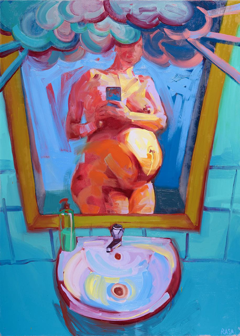 Latviešu mākslinieces Rasas Jansones personālizstāde Rotko centrā