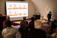 Presentations of participants of the painting symposium 5