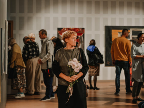 Opening of an exhibition from the Rothko Centre collection in Sigulda 14