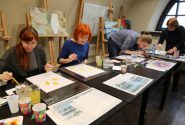 Watercolor workshop on 7 March 2015v 5