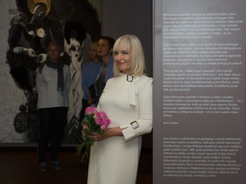 "Opening of solo exhibition ""Black Meets White"" by artist Ieva Caruka 1"