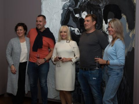 "Opening of solo exhibition ""Black Meets White"" by artist Ieva Caruka 6"