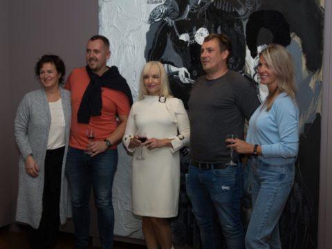 Открытие персональной выставки «Черно-белый» художницы Иевы Царуки 6