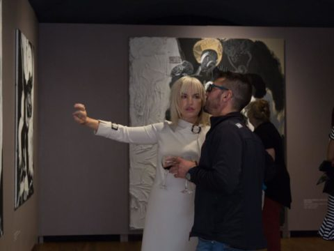"Opening of solo exhibition ""Black Meets White"" by artist Ieva Caruka 11"