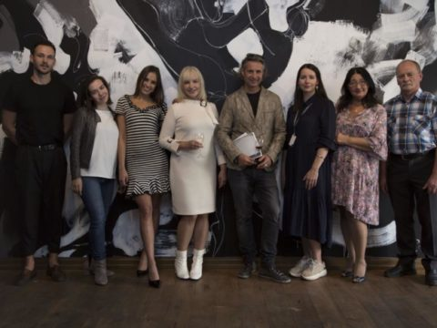 "Opening of solo exhibition ""Black Meets White"" by artist Ieva Caruka 12"