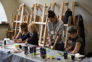 Amerikāņu mākslinieces meistardarbnīca Rotko centrā 13
