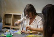 Amerikāņu mākslinieces meistardarbnīca Rotko centrā 15